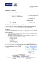 Inspection Certificate - API spec. 5CT, 9th edition